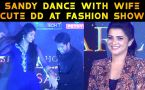 SANDY DANCE WITH WIFE | CUTE DD | DAZZLE STYLE ICON AWARD | FILMIBEAT TAMIL