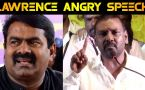 LAWRENCE ANGRY SPEECH|RAJINI 70TH BIRTHDAY FUNCTION|FILMIBEAT TAMIL