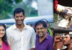 கீர்த்தி சுரேஷ் வெளியிட்ட விஷாலின் க்யூட் வீடியோ!  Keerthi Suresh posts Sandakozhi 2 video.