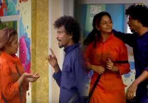 ஐஸ்வர்யாவின் முடியை பிடித்து இழுக்கும் சென்றாயன்-வீடியோ