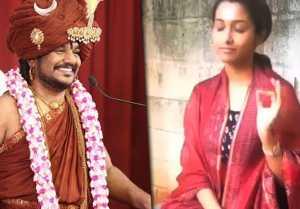 பிரபல விஜய் டிவி புகழ் பிரியா பவனி ஷங்கர் நித்யா நந்தாவின் சிஷ்யையா?