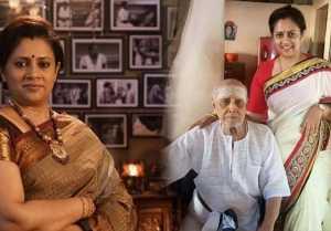 அப்பாவின் மரணத்திற்கு துக்கம் அனுஷ்டிக்காமல்  இருந்த லட்சுமி ராமகிருஷ்ணன்- வீடியோ