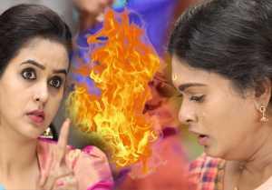 யாரடி நீ மோஹினி சீரியல்: மாமா வாங்கி கொடுத்த சேலையை எரித்த முத்தரசு- வீடியோ