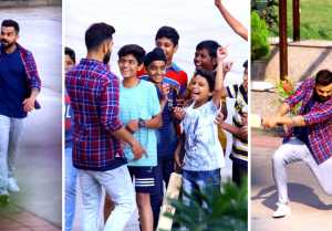 ரசிகர்களுடன் கிரிக்கெட் விளையாடிய கோஹ்லி