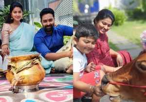 பொங்கலை குடும்பத்துடன் கொண்டாடிய சினேகா பிரசன்னா