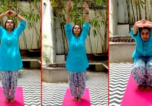 Suhasini hasan yoga challenge | Qurantine | Lock down life
