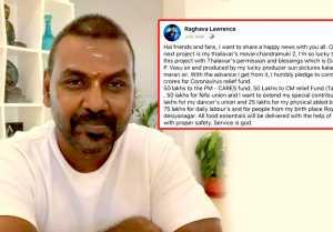 Breaking! Raghava Lawrence again proved his humanity | Chandramuki 2
