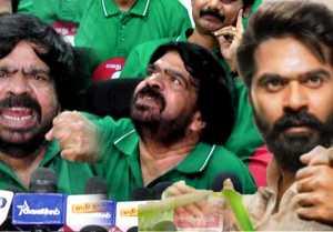 பத்திரிகையாளர்கள் முன் கண் கலங்கிய T. Rajendran | Producer Council Election