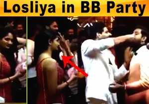 Losliya in Bigg boss finale Party | Aari Arjunan Title Winner - Filmibeat Tamil