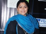 Kushboo Comes Dmk Protest With Walking Stick Aid