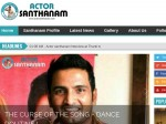 Santhanam Launches Own Website