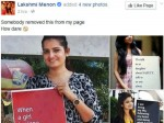 Lakshmi Menon Posts On Face Book Page