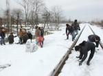 Saalai Movie Shooting At Kashmir Snow Fall