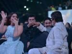 Clicked Aishwarya Rai Bachchan Amitabh Bachchan On Laugh Riot