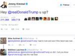Trump Are You Up Tweets Oscar Host Jimmy Kemmel