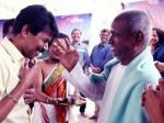 Ilaiyaraaja Blesses Bala On Naachiyaar Movie Pooja