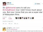 Finally Krk Apologizes Mohanlal On Twitter