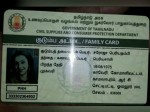 Actress Kajal Agarwal Pics Smart Ration Card