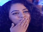 Nithya Menon Gives Flying Kiss Nani