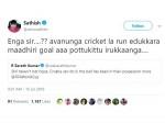 Sathish Tweet On Sarath Statement
