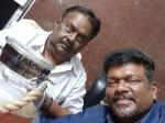 Actor Parthiban Meets Vijayakanth