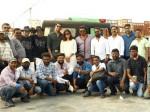 Actor Vishal His Ayogya Team Celebrates Diwali On The Sets