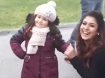 Nayanthara Enjoys Shooting With Cute Baby