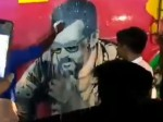 Ajith Fans Poured Milk On Bus