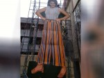 A Huge Cut Out For Actress Samantha In Hyderabad