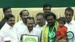 Actor Saravanan Receives Kalaimamani Award From Cm