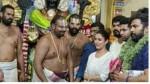 Nayanthara Visits Athi Varadar Temple With Vignesh Shivan