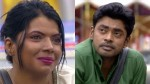 Actress Kaajal Suporting Her Ex Husband Sandy In Biggboss House