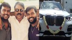 Vijayakanth S Sons Presented Bmw Car For His Birthday