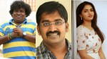 Yogi Babu And Karunakaran And Sunaina Acting In Trip Movie