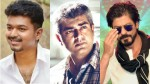 Shah Rukh Khan Says One Word About Actors Vijay Ajith And Dhanush