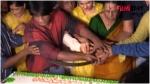 இதெல்லாம் தேவையா? பர்த் டே கேக்கை வாளால் வெட்டி மிரட்டல் போஸ் கொடுத்த ஹீரோ... போலீஸ் நோட்டீஸ்
