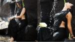 கலக்கல் கறுப்பு சேலை.. ஜிவ்வென்று இழுக்கும் ஸ்லிம் அழகுடன்.. பேரழகி தேவசேனா.. வைரலாகும் போட்டோக்கள்