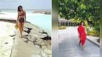 மாலத்தீவு கடற்கரையில் பிகினியில் சுற்றும் விஜய் பட நடிகை.. திணறும் இன்ஸ்டா!
