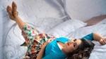 அதே புன்னகையுடன்… நீண்ட நாட்களுக்கு பிறகு படப்பிடிப்புக்கு திரும்பிய மேக்னா ராஜ்!