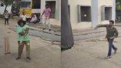 செம்ம ஷாட்...யோகி பாபுவுடன் கிரிக்கெட் விளையாடிய பிரசாந்த்