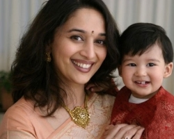 Madhuri with son