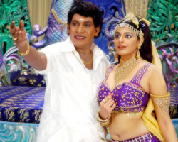Theetha Sharma with Vadivelu