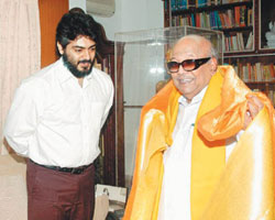 Ajith with Karunanidhi