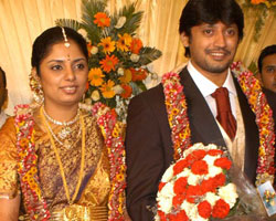 Prasanth with Grahalakshmi