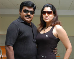 Sheryl Pinto with Vijaykanth