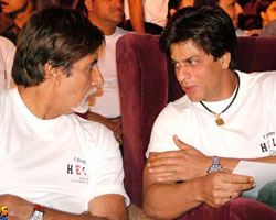 Amitabh Bachchan with Shahrukh Khan