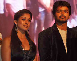 vijay with Nayanatara