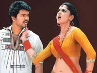 Vijay with Anushka in Vettaikaran