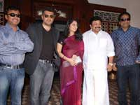 Bharatwaj with Ajith Shalini Saran and Prabhu
