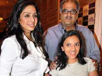 Sridevi with Hubby and Daughter